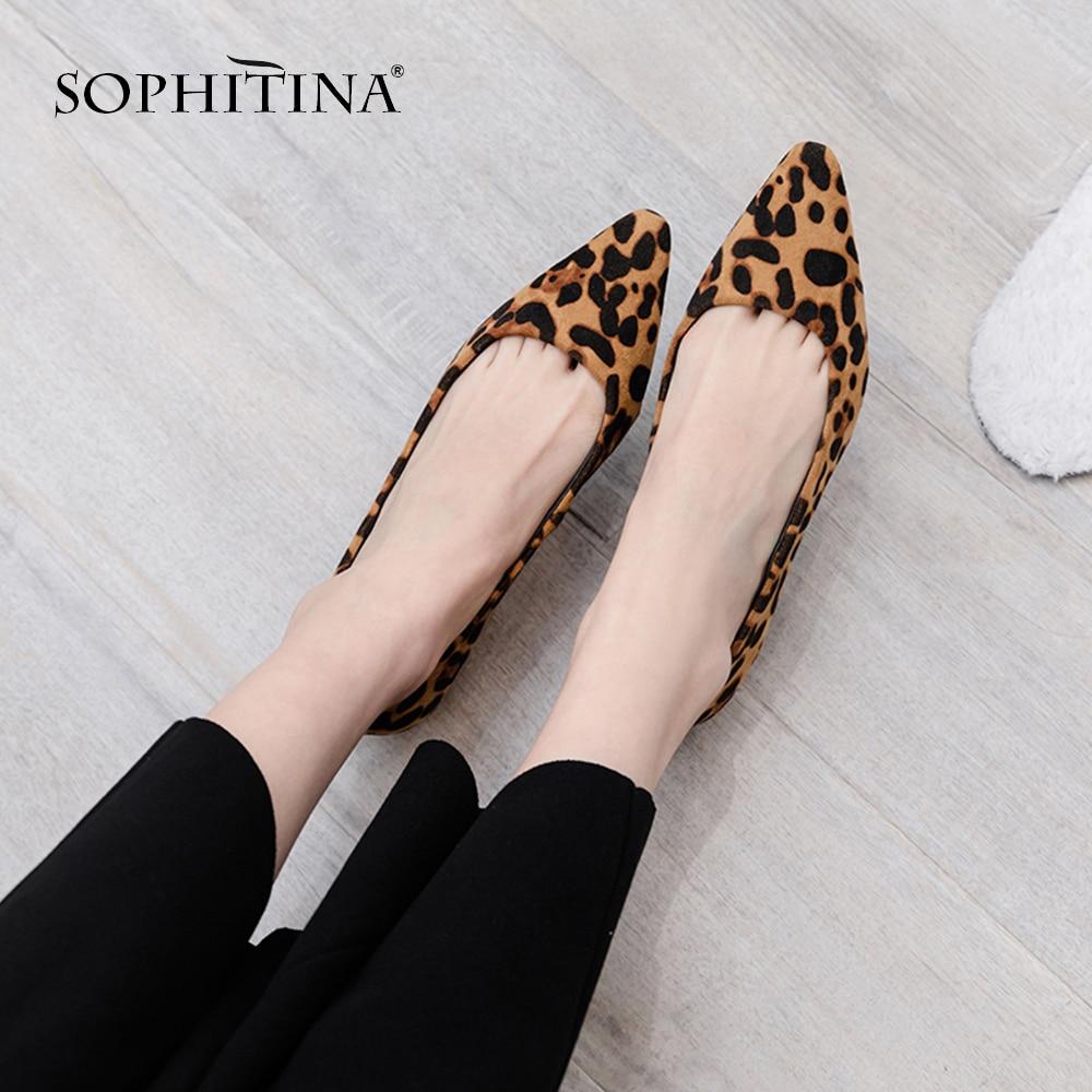 e22926af SOPHITINA nueva moda Tacón cuadrado mujeres bombas Casual punta puntiaguda  Slip-On zapatos ...