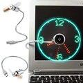 Оригинальность USB LED Часы Вентилятор Гибкие Часы Реального Времени Вентилятор со СВЕТОДИОДНОЙ Подсветкой, Настольный USB вентилятор Кулера дисплей часы реального времени гаджеты