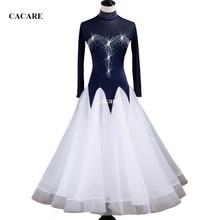 купить Waltz Dress Ballroom Dance Competition Dresses Standard Dance Dresses Ballroom Dress 3 Choices D0341 Rhinestones Long Sleeve по цене 4553.21 рублей