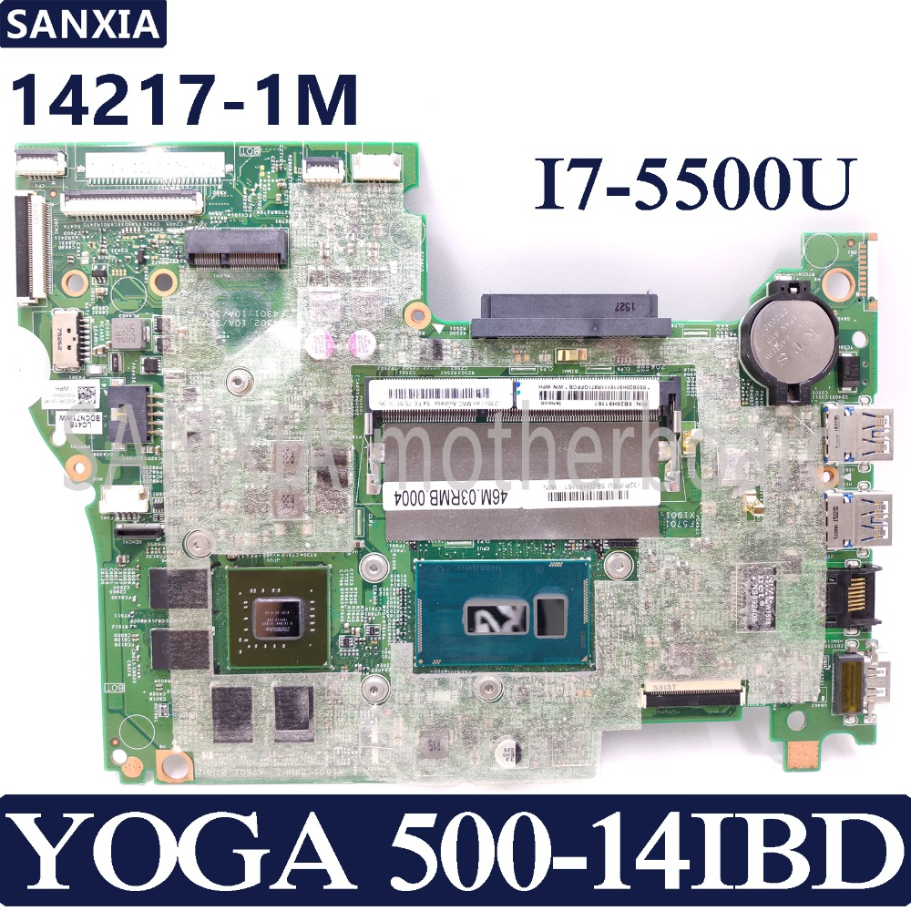 KEFU 14217-1M Laotop motherboard for Lenovo YOGA 500-14IBD original mainboard I7-5500U with video card image