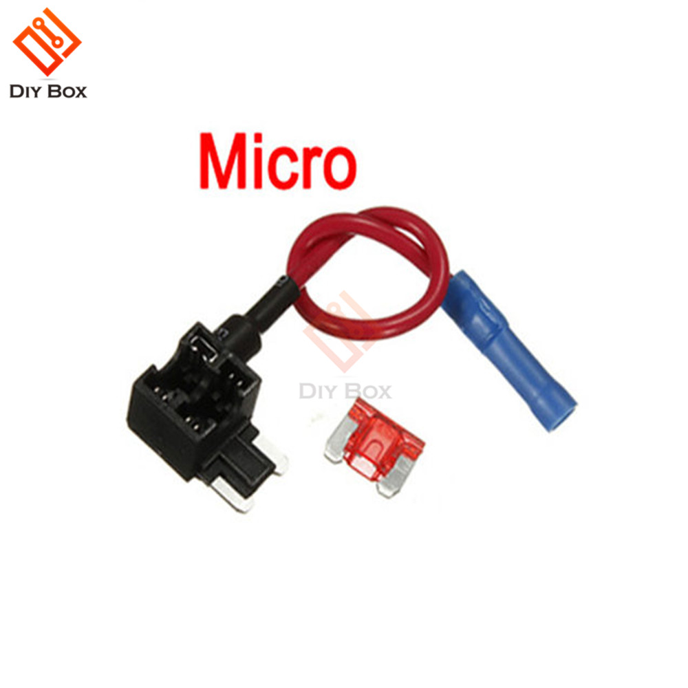 Micro TAP Adapter Blade Fuse Holder 10A 12V ACS Add A Circuit Fuse ATM APM