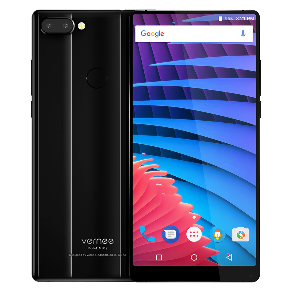 טביעות אצבע מצלמה Mix ורני 2 4G פאבלט 6GB 64GB RAM ROM 6.0inch אנדרואיד 7.0 MTK6757CD OctaCore 2.5GHz 13.0MP 5.0MP + Dual אחורי