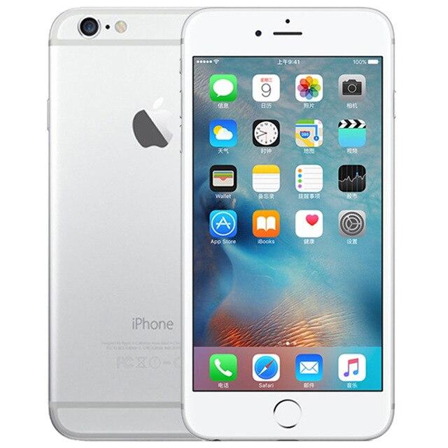 Оригинальные Apple iPhone 6 Dual Core 4,7 дюйма 1 ГБ Оперативная память 16/64/128 ГБ Встроенная память 8MP Камера WCDMA LTE ips IOS разблокирована использовать смартфон - Цвет: Silver