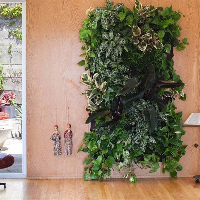 4 And 7-Pocket Felt Vertical Gardening Flower Pots Planter Hanging Pots Planter On Wall Garden Green Field