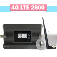 Fast 4G LTE 2600 Mobile Phone Signal Repeater 4G LTE Booster 80dB Gain Band 7 4G 2600 MHz Cellular Signal Amplifier LCD Display