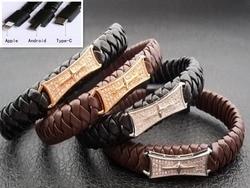 Bracelet de câble de données populaire Hip-hop bracelet multifonction de téléphone portable USB de style vente chaude