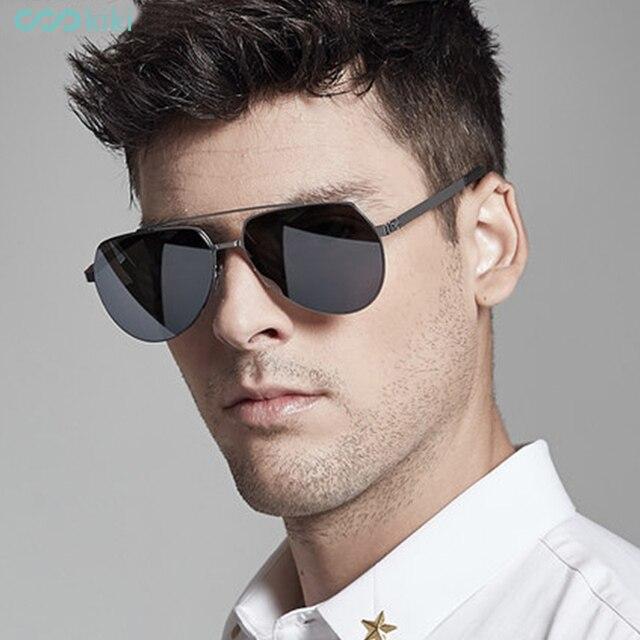 6eac6661ab KIKI hombre no polarizado Nylon gafas de sol marca diseñador 2017 piloto  gafas conducción piloto de