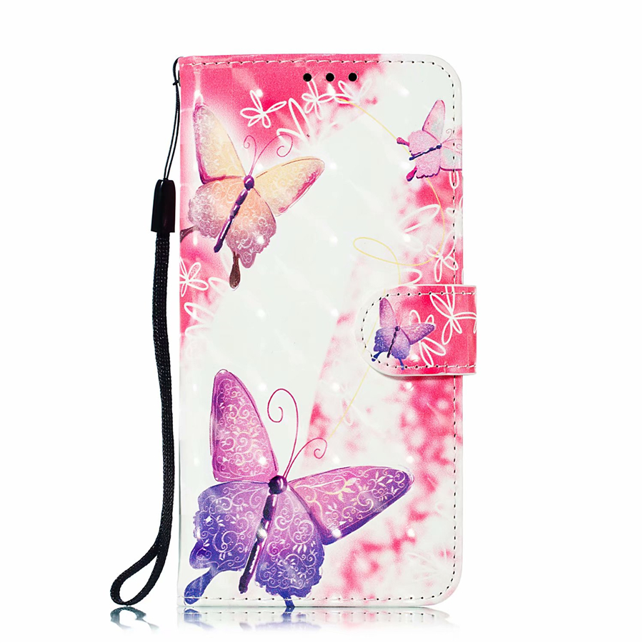 Flip Leather Case Redmi 6 6A 6Pro Note 6 Pro 7 butterfly Mobile phone case For Xiaomi Mi A2 8 Lite 9 9SE Wallet Cover Cat in Flip Cases from Cellphones Telecommunications