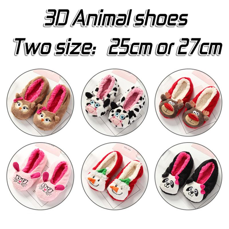 2017 New Warm Flats Soft Sole Women Indoor Floor Slippers/Shoes Animal Shape Black Pink Red Brown Flannel Home Slippers 5 Color stone village new warm flats soft sole women indoor floor slippers shoes comfortable indoor shoes fur bunny slippers plush socks