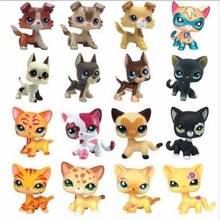 LPS pet shop toy cat really collects standing 41 kinds of short hair cat tiger cat powder cat big Dane sausage dog shepherd toy(China)