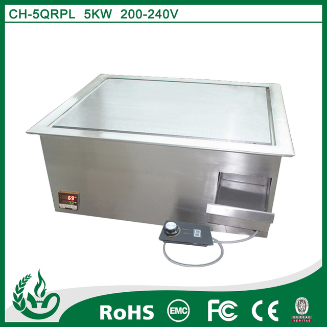 Drop In Stainless Steel Electric Griddle For Hotel Restaurant