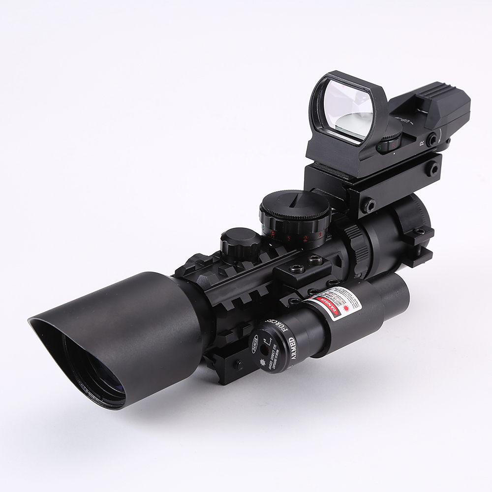 Hunting Riflescopes Tactical Red Laser Airsoft Air Guns Scope Holographic Reflex illuminated Dot Sight Reticle  20mm Rails Mount hunting red dot illuminated scopes for airsoft air guns riflescopes tactical reticle optics sight hunting luneta para rifle