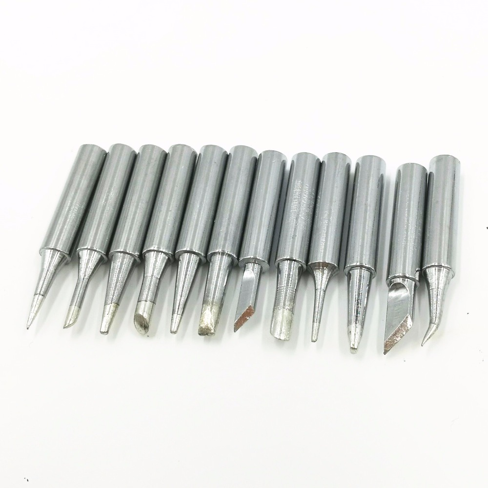 12 Pcs/Lot 900M Series Lead-Free Soldering Solder Iron Tips For 8586 936 Solder Station  Soldering Station Iron Tsui