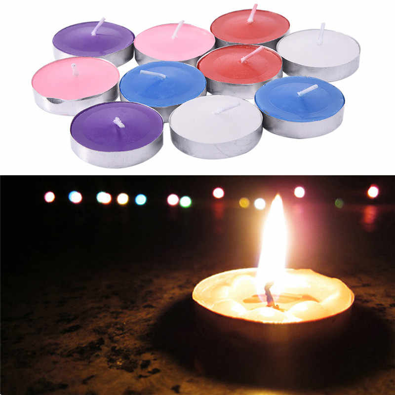 10pcs/set tea candle cented wax candles decorative paraffin wax fragrance  candle light bougie paraffin wax for candles 5 color