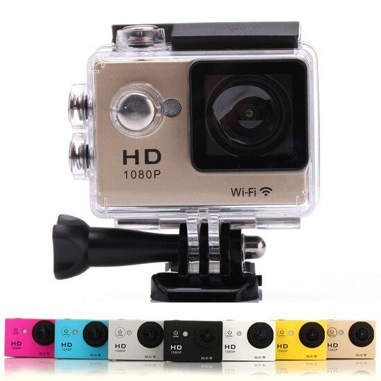 Galleria fotografica SJ4000 WiFi Camera W9 Mini Waterproof Camcorder 1080P Full HD 2 inch LCD Helmet Cam Underwater 30m Sport DV Camera