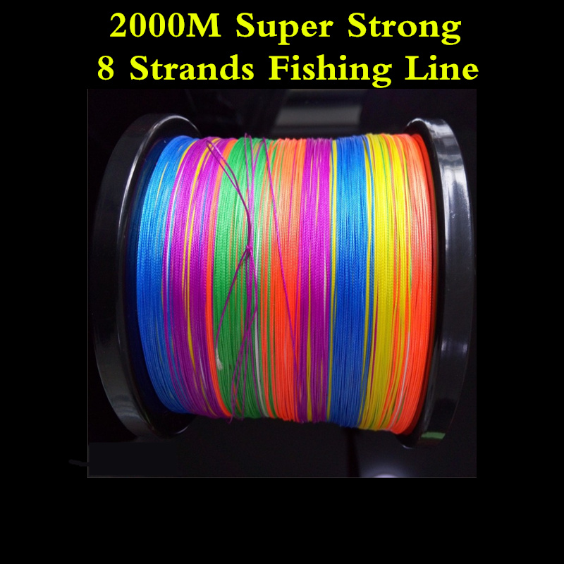 2000M Super Strong 8 Braided Wire Fishing Line Rope 0.4-10# 3.25-79.2KG PE 8 Braided Sea Fishing Lines Crap Fishing Wire Lines free shipping 500m 4250lb sailboat rope extreme strong 4 5mm uhmwpe braided wire