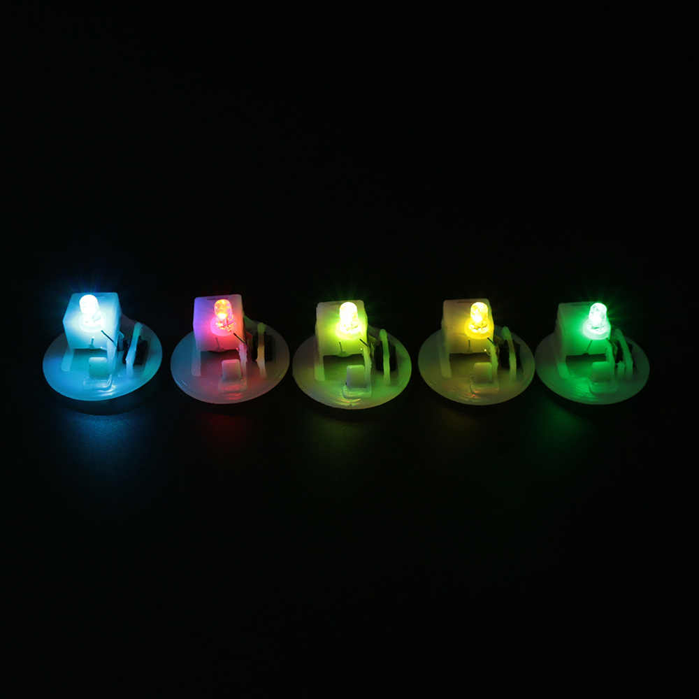 5pcs Colorful Color Night Light Candle Lights Luminous LED Base Electronic Luminous Toys Accessories Movement Night Lights