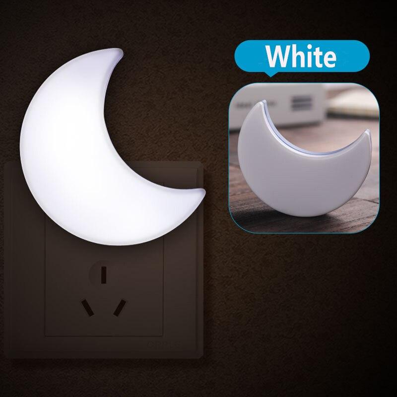 AC220V US EU Plug Moon LED Night Light Auto Light Sensor Control LED Wall Night Lights Child Baby Bedroom Bedside Moon Lamp Bulb