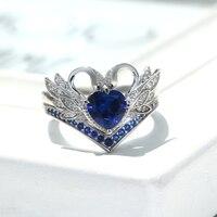 Red/White/Pink/RoyBlue/Purple Swan love romantic luxury couple rings 5