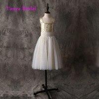 Floor Length Straps Flower Girl Dress Sleeveless A Line Gold Sequin Ivory Tulle Pleat