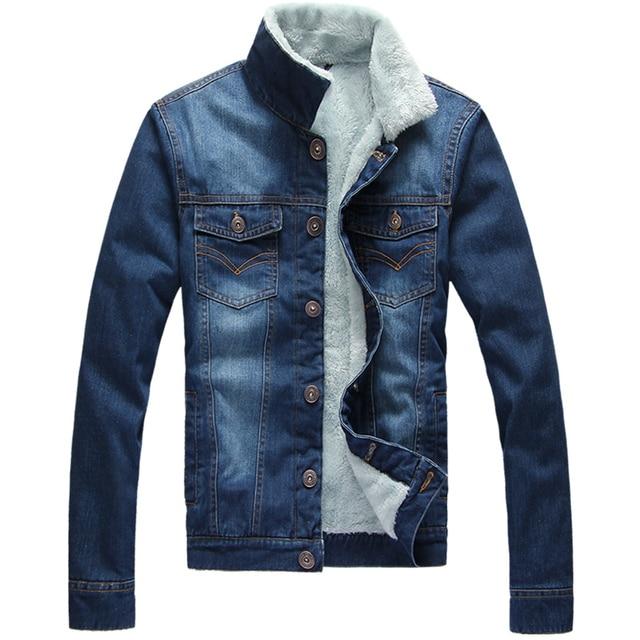 Asian Size!! Men Winter Fur Collar Hooded Fleece Lined Outerwear Jackets Coats