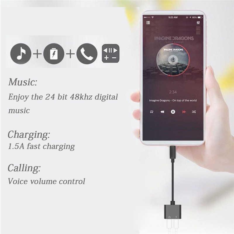 2 в 1 type-C до 3,5 мм аудио разъем адаптер зарядный конвертер для huawei P20 Pro mate 10 Lite Letv Le Pro 3 type C USB-c кабель