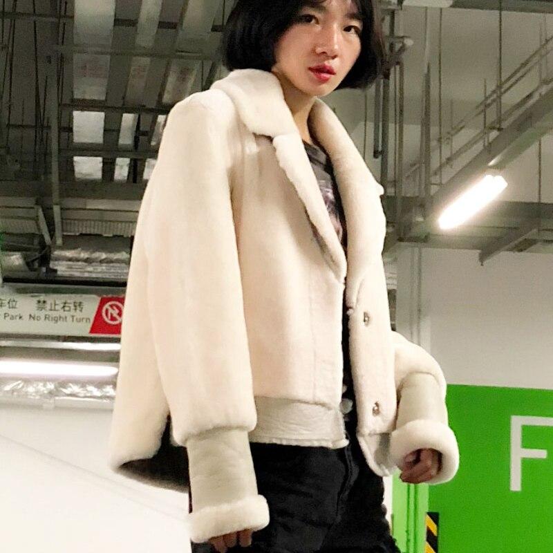 127084167fe EI BAWN Winter 2018 Women Fur Coat Sheep Shearling Jacket Real Wool Fur  Coats Ladies Warm Streetwear Winter Jacket Women Coat-in Leather   Suede  from ...