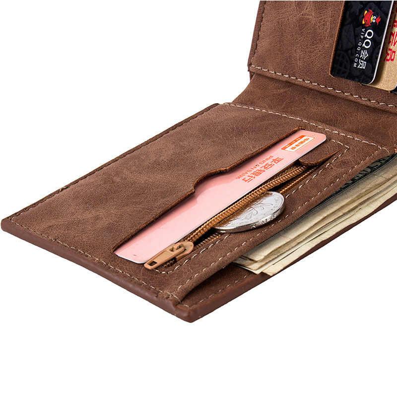 2019 חדש גברים ארנקים קטן כסף ארנקי ארנקים חדש עיצוב דולר מחיר למעלה גברים דק ארנק עם מטבע תיק רוכסן ארנק L027