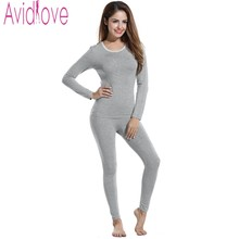 Avidlove Winter Thermal Underwear Women Suit Thick Warm Women Cloth Female Bodysuit Long Johns Casual O Neck Long Sleeve Costume