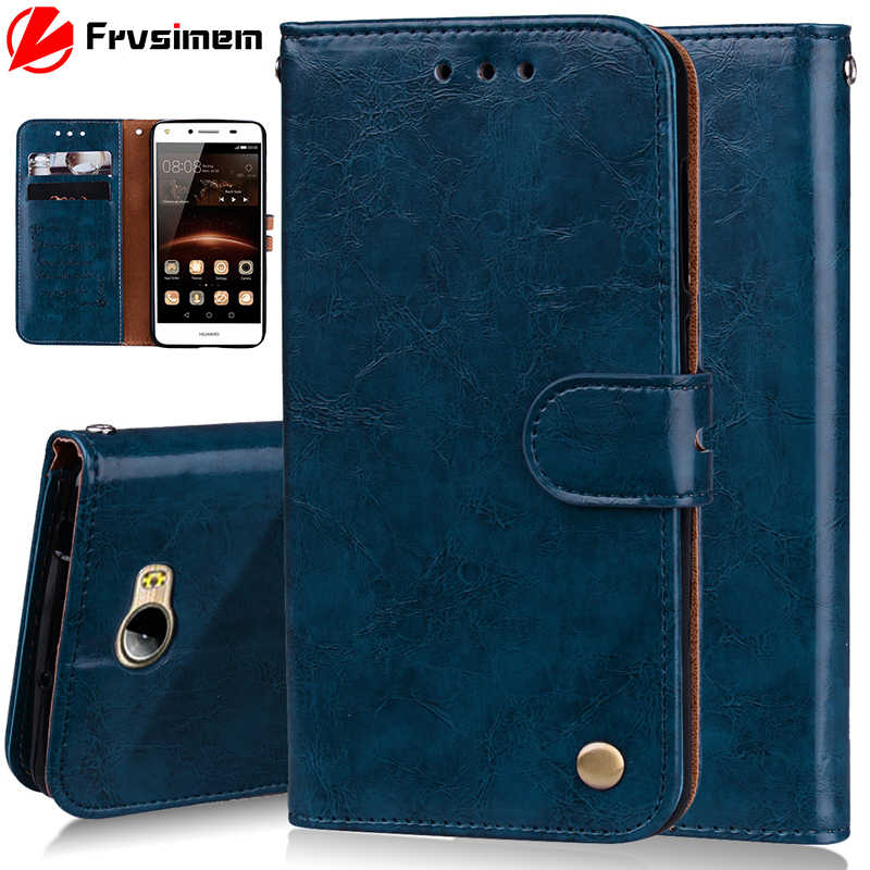 Leather Wallet Case For Huawei Y5II Y5 II / Y6 ii Compact CUN-U29 CUN-L21 CUN-L01 Honor 5A LYO-L21 CUN U29 Flip Cover Stand