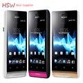 Оригинальный Sony Xperia miro ST23i ST23 Android Телефон 3.5 Сенсорный Экран 3 Г GPS WiFi 5MP Разблокирована Отремонтированы Сотовый Телефон Бесплатная доставка