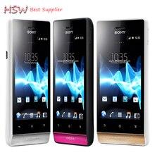 ST23 оригинальный Sony Xperia Miro ST23i телефона Android 3.5 сенсорный экран 3 г GPS Wi-Fi 5MP разблокирован Восстановленное сотовый телефон Бесплатная доставка