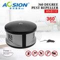 Aosion 360 graus ultrasonic roedor rato ratos Ratos em casa e repelente de mosquito barata controle de pragas repeller eletrônico