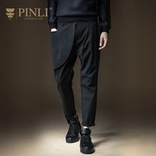Free Shipping New fashion 2016 casual male Men's personalized Slim winter Pencil Pants Trousers B164117057 jeans PinLI black