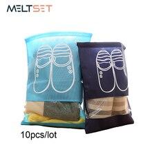 10 pcs/lot Non-woven Waterproof Shoe Bag Travel Women Shoe Bag Set for School Golf Drawstring Shoe Cover Storage Bags