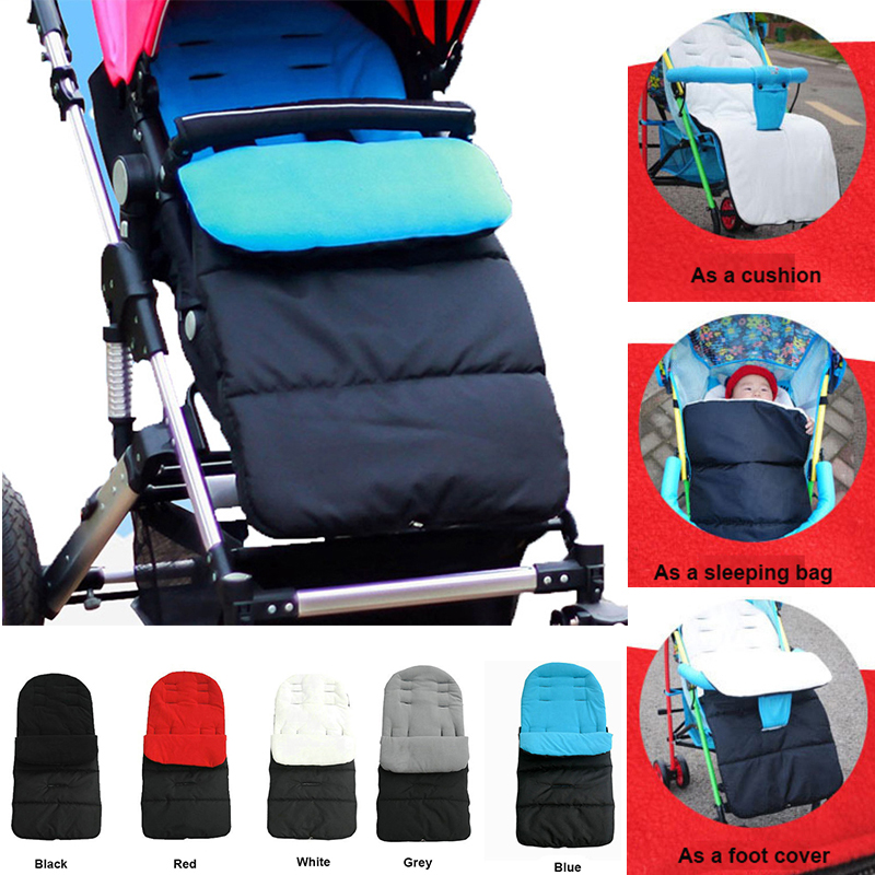 1PC Waterproof Baby Stroller Sleeping Bag Autumn For Baby Winter Warm Pushchair Newborn Sack (5 Colors)