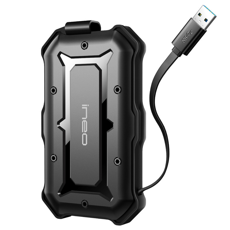Ineo HDD Case Rugged Shockproof IP66 External USB 3.0 To SATA 2.5 Hard Drive SSD Enclosure Caddy [T2566-I](China)