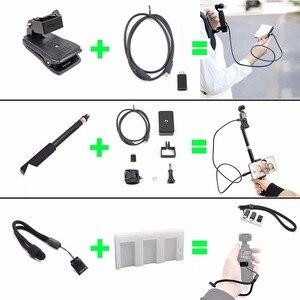 Image 2 - Startrc cardan câmera osmo bolso expansão acessórios kit/21 em 1 handheld ação câmera monta peças para dji osmo bolso