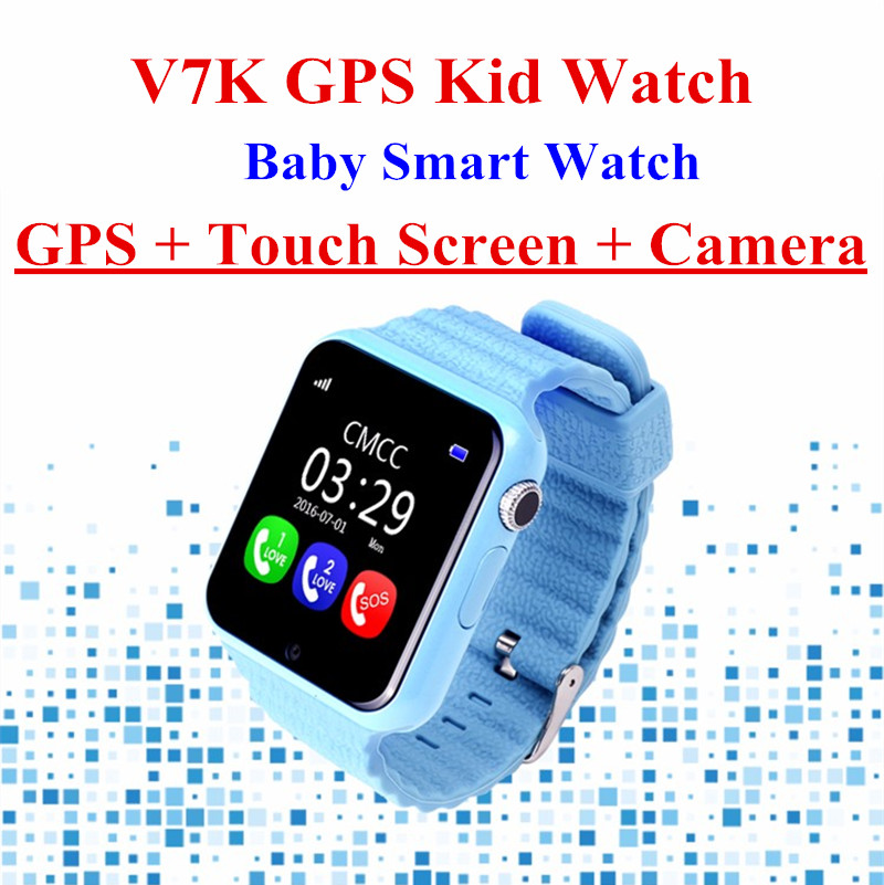 V7K Smart Baby Watch Kids GPS Smartwatch Touch Screen with Camera SOS Location Device Tracker for