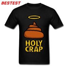 Holy Crap! T-shirt Guys Funny Tshirt Men's Black Tshirts 80s Party Clothes Birthday Novelty Gift Adult Tops Hip Hop Tees Unique david hines holy crap