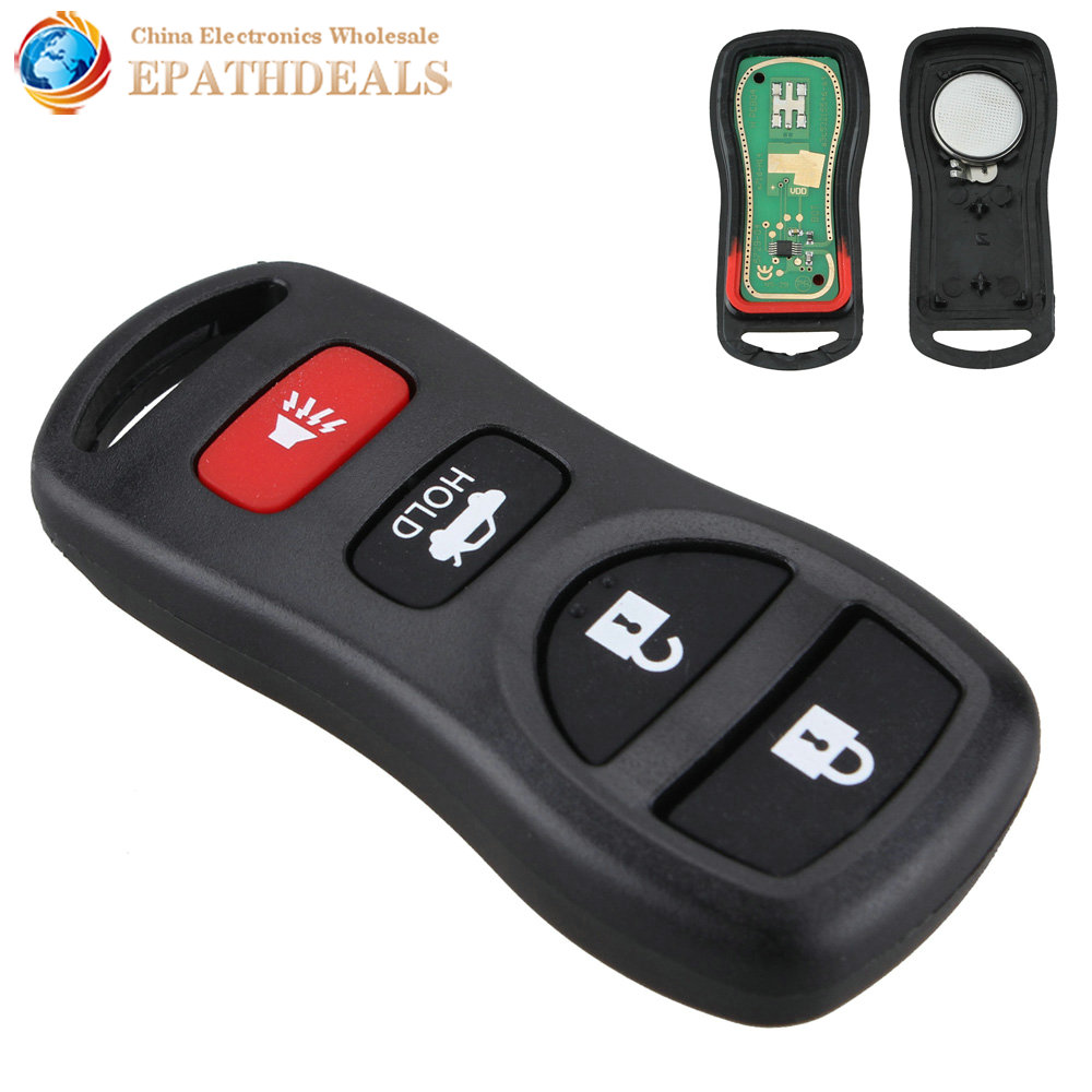4 Buttons Auto Car Key Fobs Shell Clicker Keyless Entry Remote Control Case Cover Replacement for KBRASTU15 Car Styling image