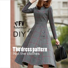 Dresses Sewing Pattern Template Cutting drawing Clothing DIY