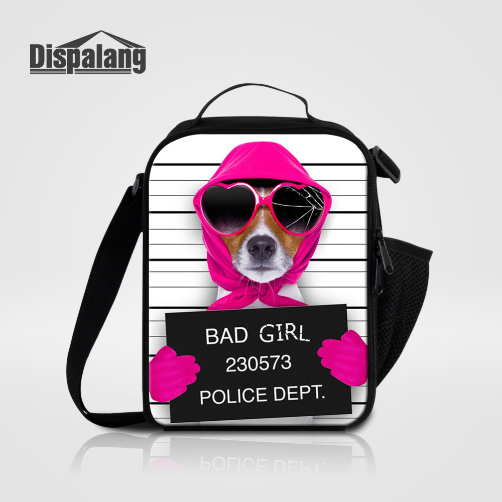 Dispalang Kids Lunch Bags Cute Dog Print Storage Box Insulated Thermal Cooler Bag Picnic Food Tote Bolsa Termica Lancheira