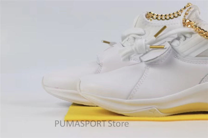 bc9da6e00f79 2018 New Original Selena Gomez X Puma Phenom Lux Women s White Sneakers  Suede Satin Badminton Shoes size35.5 40-in Badminton Shoes from Sports ...