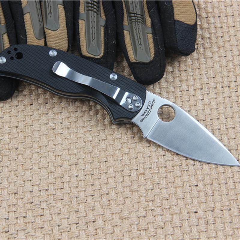 Folding font b Knife b font C41 Spyderco Pocket font b Knife b font CPM S35VN