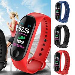 M3 Bluetooth Smartwatch С сердечного ритма крови Давление монитор часы с будильником и шагомером браслет для Для мужчин Для женщин группа PK mi Группа 3