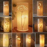 LED Schreibtisch Lampe Kunst Dekoration Tisch Nacht Licht Decor Blume Schlafzimmer Home Office