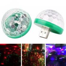 2018 LED Araba USB atmosfer ışığı DJ RGB Mini Renkli Müzik Ses Lamba için Tip-C için IOS Fiş Cep telefonları Dekoratif Lamba