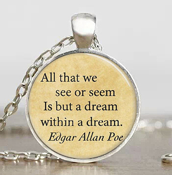 Steampunk Edgar Allan Poe Book Pendant silver mens silver Necklace doctor dr who chain 1pcs/lot man jewelry women new chain men