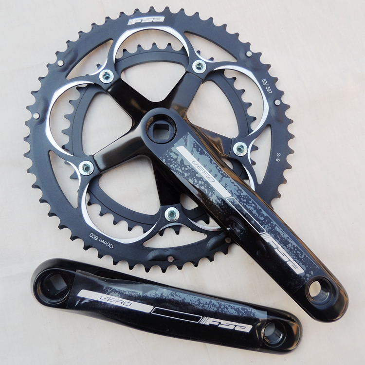 FAS vero 9 SPEED aluminum alloy 53*39T road bike folding bike CNC bicycle crank set west biking bike chain wheel 39 53t bicycle crank 170 175mm fit speed 9 mtb road bike cycling bicycle crank